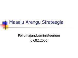 Maaelu Arengu Strateegia