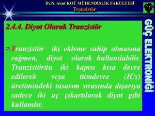 Tranzistör
