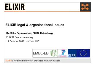 ELIXIR legal & organisational issues