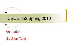 CSCE 552 Spring 2010