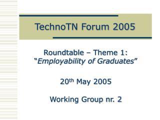 TechnoTN Forum 2005