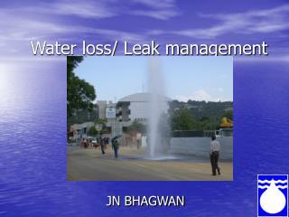 Water loss/ Leak management