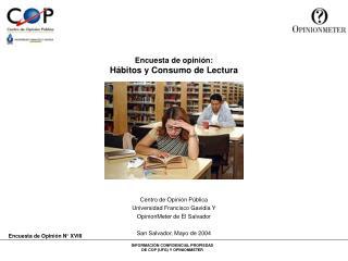Encuesta de opinión: Hábitos y Consumo de Lectura