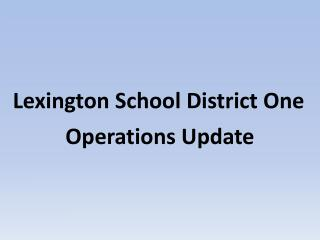 Lexington School District One