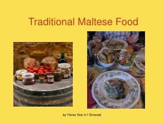 Traditional Maltese Food
