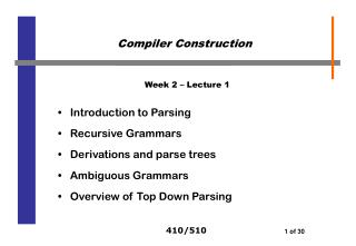 Week 2 – Lecture 1