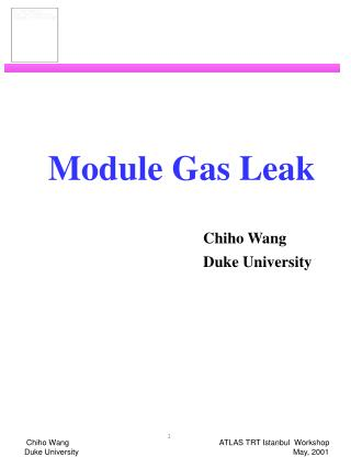 Module Gas Leak Chiho Wang 					Duke University