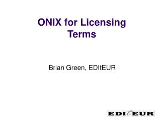 ONIX for Licensing Terms