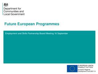 Future European Programmes