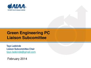 Green Engineering  PC  Liaison  Subcomittee