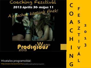 COACHING  FESZTIVÁL 2013