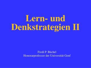 Lern- und Denkstrategien II