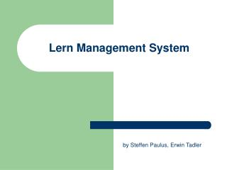 Lern Management System