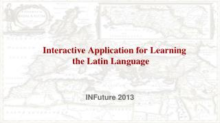 Interactive Application for Learning  the Latin Language