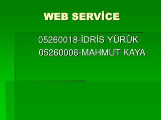 WEB SERVİCE