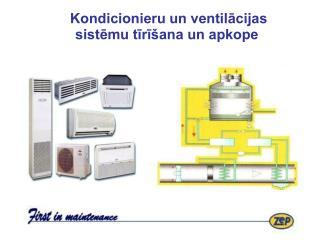 Kondicionieru un ventilācijas sistēmu tīrīšana un apkope