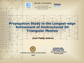 Propagation Study in the Longest-edge Refinement of Unstructured 3D Triangular Meshes