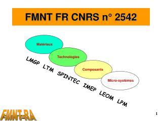 FMNT FR CNRS n° 2542