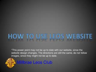 How to use Leos Website