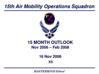 15 MONTH OUTLOOK Nov 2006 � Feb 2008 16 Nov 2006