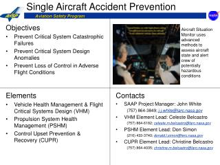 Single Aircraft Accident Prevention