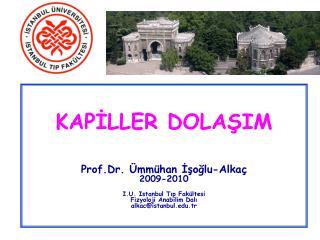 KAPİLLER DOLAŞIM Prof.Dr. Ümmühan İşoğlu-Alkaç 2009-2010