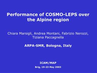 Performance of COSMO-LEPS over the Alpine region