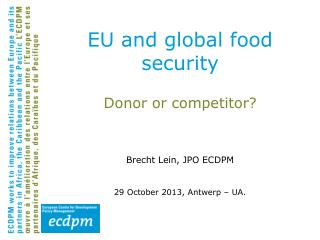 EU and global food security
