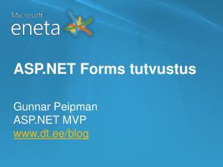 ASP.NET Forms tutvustus