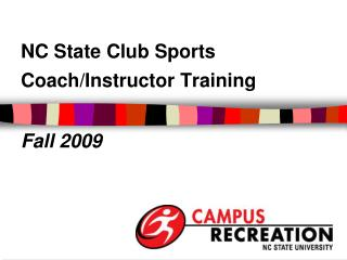 Coach Training Presentation