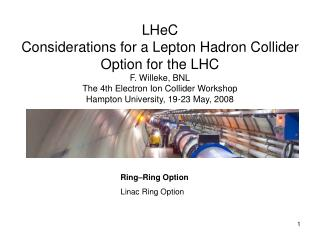 Ring–Ring Option Linac Ring Option