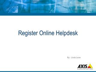 Register Online Helpdesk