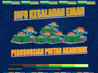 INFO KESALAHAN EJAAN