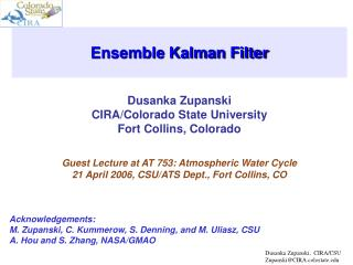 Ensemble Kalman Filter