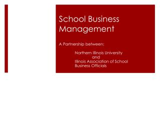 School Business Management