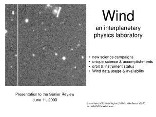 Wind an interplanetary  physics laboratory