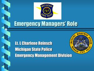 Emergency Managers' Role