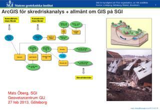 ArcGIS f�r skredriskanalys + allm�nt om GIS p� SGI