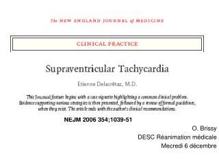 NEJM 2006 354;1039-51 O. Brissy DESC Réanimation médicale