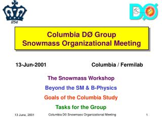 Columbia D Ø Group Snowmass Organizational Meeting