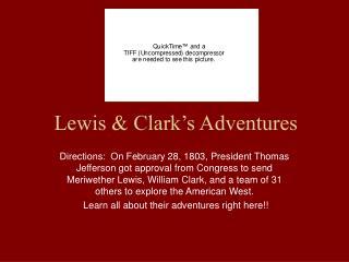 Lewis & Clark's Adventures