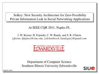 SoKey: New Security Architecture for Zero-Possibility