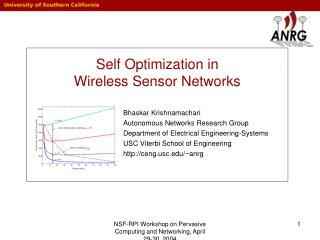 Self Optimization in  Wireless Sensor Networks
