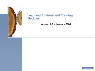 Lean and Environment Training Modules
