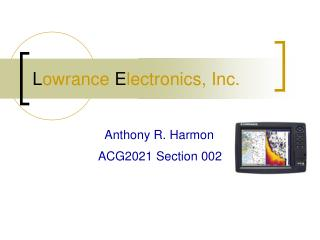 L owrance E lectronics, Inc.