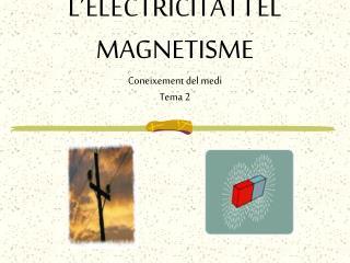 L�ELECTRICITAT I EL MAGNETISME Coneixement del medi Tema 2