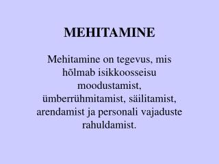 MEHITAMINE