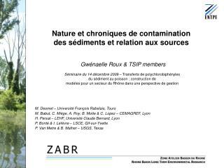 Nature et chroniques de contamination des sédiments et relation aux sources