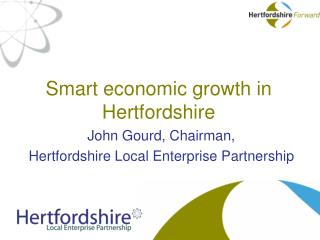 Smart economic growth in Hertfordshire