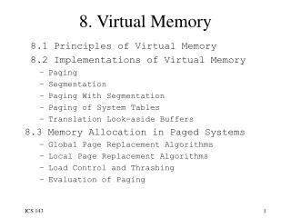 8. Virtual Memory